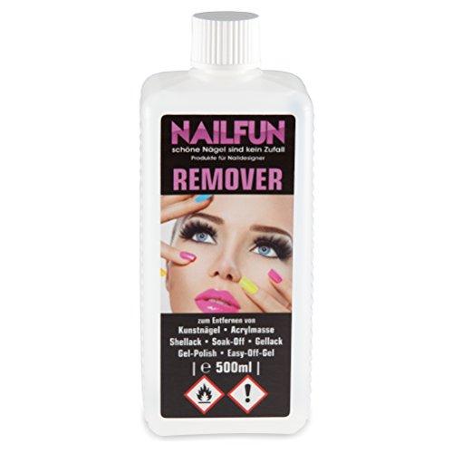 1/2 Liter REMOVER für Gellack, Shellack, Soak-Off, Gel-Polish, Easy-Off-Gel, Acrylmasse und Tips [1x 500ml]