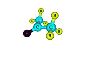 Molekulare Struktur von Aceton